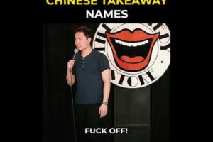 COMEDIAN mrnigelng ⁣- Why do so many Chinese takeaways have pun names?⠀⠀