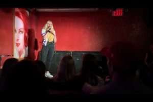 "Beatrix ""Betsy"" Carroll does stand up comedy at Beauty Bar"